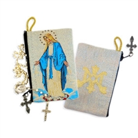 "Our Lady of Grace Rosary Pouch 4.5"" X 3"""
