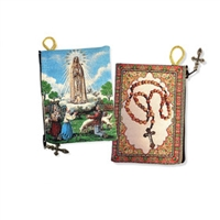 Our Lady of Fatima Rosary Pouch 5 3/8 X 4