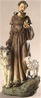 Saint Francis with Wolf and Sheep