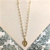 Charlie Pearl Miraculous Medal Necklace