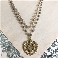 Diana Miraculous Medal and 7 Sorrows Medallion