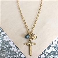 Jill Heart Cross and Rose of St. Therese
