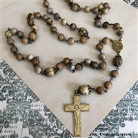 Wood Agate Rosary