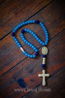 Chews Life Baby Blue Rosary