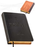 Fireside New Catholic Answer Bible Black & Tan Leather