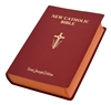 St. Joseph New Catholic Bible Giant Type Imitation leather red