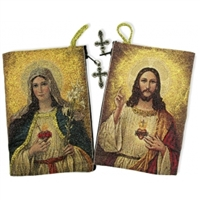 Sacred Heart of Jesus & Immaculate Heart of Mary Rosary Pouch