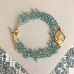Angela French Mary Medallion Bracelet