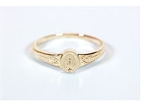 Small 14KT Gold Miraculous Ring