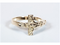 Gold 14KT Crucifix Ring