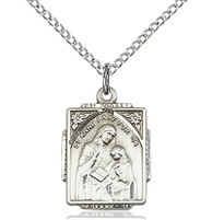 "St. Anne Sterling Silver on 18"" Chain"