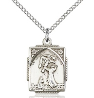 "St. Francis of Assisi Sterling Silver on 18"" Chain"