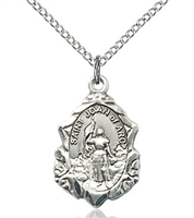 "St. Joan of Arc Sterling Silver on 18"" Chain"