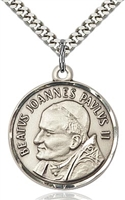 "St. John Paul II Sterling Silver on 24"" Chain"