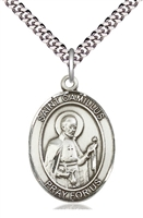 "St Camillus of Lellis Medal on 24"" Chain"