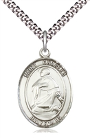 "St Charles Borromeo Medal on 24"" Chain"