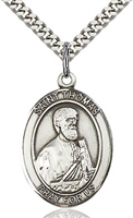 "St. Thomas the Apostle Sterling Silver on 24"" Chain"