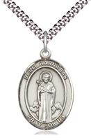 "St Barnabas Silver Medal on 24"" Chain"