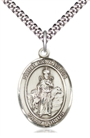 "St Cornelius Medal on 24"" Chain"