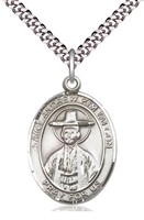 "St Andrew Kim Taegon Sterling Silver on 24"" Chain"