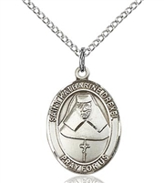 "St. Katharine Drexel Sterling Silver on 18"" Chain"