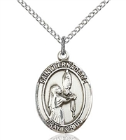 "St. Bernadette Sterling Silver on 18"" Chain"