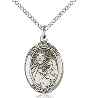 "St. Margaret Mary Alacoque Sterling Silver on 18"" Chain"