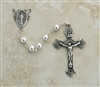6mm sterling silver beaded rosary