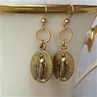 Miraculous Mary Gold Earrings