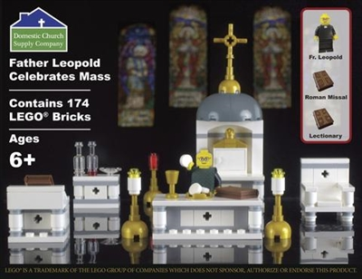 Father Leopold Celebrates Mass Lego Kit