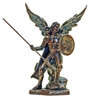 "St. Raphael the Archangel - 9"" Bronze"