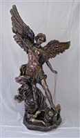 "St Michael the Archangel 73"" Bronze"