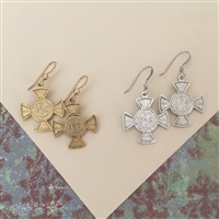 Infant of Prague Cross Earrings