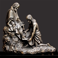 Christ Washing Feet by Timothy P. Schmalz