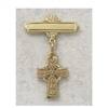 Celtic cross Baby Pin gold over sterling silver