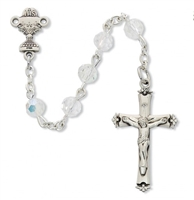 Sterling Silver First Communion Rosary for girl