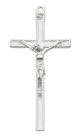 "5"" White Enamel Crucifix"