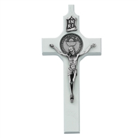 "6"" White First Communion Cross"