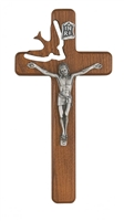 "7"" walnut Wood Holy Spirit Crucifix"