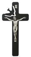 "7"" Black Wood Holy Spirit Crucifix"