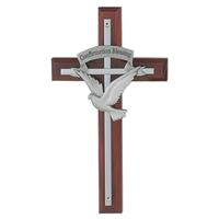 Walnut and Pewter 7 Gifts of the Holy Spirit Cross