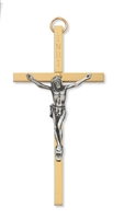 "4"" BRASS CRUCIFIX"