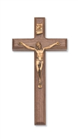 "8"" BEVELED WALNUT CRUCIFIX"