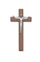 "7"" WALNUT RISEN CRUCIFIX"