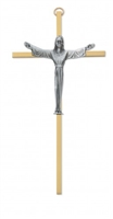"7"" RISEN BRASS CRUCIFIX"