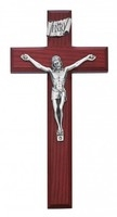 "8"" BEVELED CHERRY CRUCIFIX"