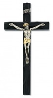 "10"" TWO TONE BLACK CRUCIFIX"