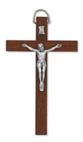 4 DARK BROWN CRUCIFIX""