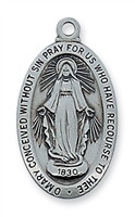 "Miraculous Medal  18"" Chain"