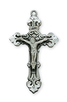 "Antique Silver Crucifix 18"" Chain"